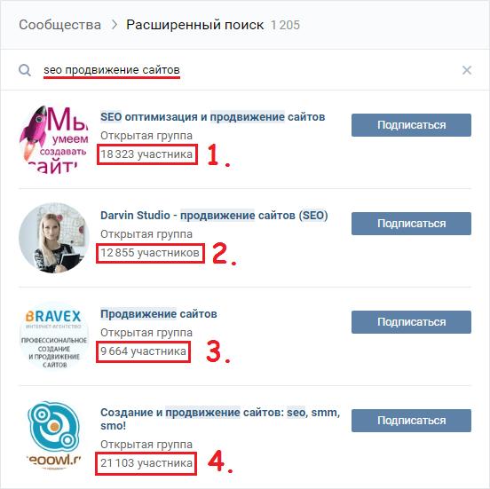 Неправильное название групп Вконтакте