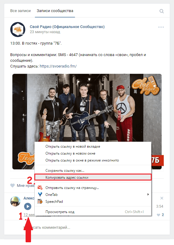 скопировать ссылку на комментарий Вконтакте