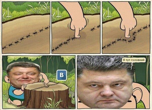 Кто тут главный порошенко Вконтакте