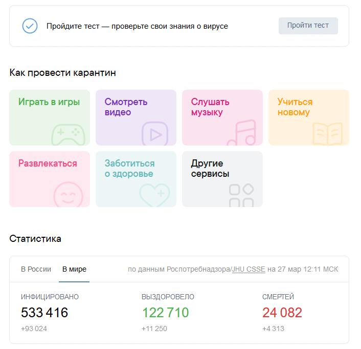 коронавирус статистика вк